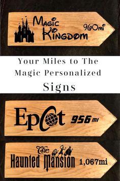 Walt Disney Studios Park in Paris custom mileage sign distance to your house
