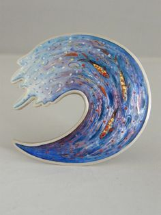 Painted Enamel - RUTH BALL > Enamel Design - I love everything about this piece!