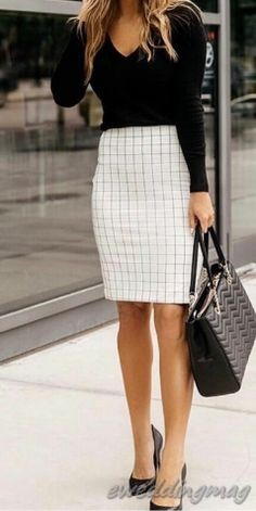 15 Adorable Skirt For Work Outfits Office Outfits Women, Summer Work Outfits, Simple Outfits, Classy Business Outfits, Business Attire, Business Casual, Business Formal, Business Fashion, Pencil Skirt Outfits