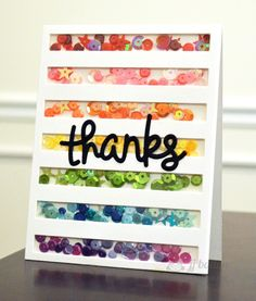 JJ Bolton {Handmade Cards}: CASE Study 4th Anniversary Blog Hop - love the rainbow sequins. . .