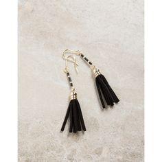 Mini Suede Tassel Earrings ($11) ❤ liked on Polyvore featuring jewelry, earrings, dangling jewelry, earrings jewelry, hook jewelry, tassel jewelry and beading jewelry