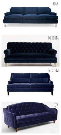 Navy blue sofa couches at an array of prices | Warner Living Room t | Navy Blue Sofa, Blue Sofas and Sofas