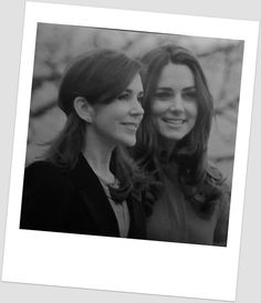 Crown Princess Mary of Denmark and the Duchess of Cambridge. Its seems as these two have a special and supportive friendship.