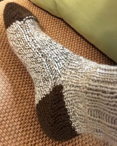 Free Pattern for Machine Knit Mid-Gauge Worsted Weight Boot Socks