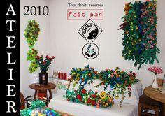 Recyclage artistique, plastique, up cycling - Plasticienne, Recyclage artistique, Up cycling, Art visuel, Bouchon en Plastique,