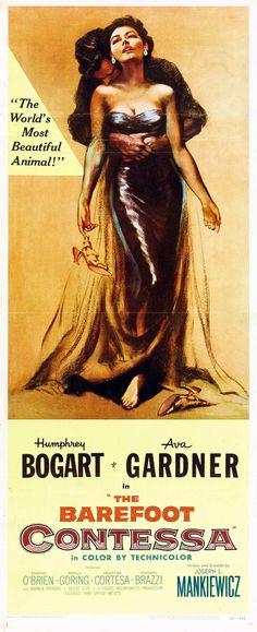 """The Barefoot Contessa"" (1954). Country: United States. Director: Joseph L. Mankiewicz. Cast: Humphrey Bogart, Ava Gardner, Edmond O'Brien, Marius Goring, Valentina Cortese"