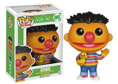 Your favorite characters from Sesame Street are now in POP form! It's Ernie from the classic kids TV show Sesame Street! Now you can bring the Sesame Street gang home! Check out the other Sesame Street POP figures from Funko! Pop Vinyl Figures, Funko Pop Figures, Figurines D'action, Pop Figurine, Funko Pop Toys, Funko Pop Vinyl, Cardboard Box, Chibi, Hello Kitty