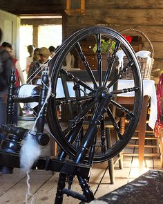 Spinning Wool at Old World Wisconsin