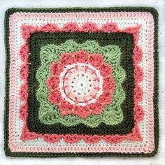 """Ravelry: Project Gallery for Pizzazz - 12"""" Square pattern by Melinda Miller. Free crochet pattern."""