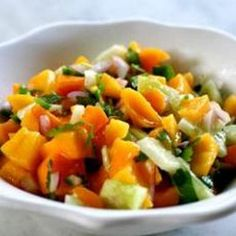 I love, first food I tried when I arrived back in the states. Mango Salsa