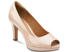 Clarks' Delsie Britta   17 Cute Heels For Women Who Hate Wearing High Heels Why they're great: Peep toe heels have been popular since the 1940s, and this modern version enlists the help of Ortholite cushioned support to give you comfy support that lasts all day.