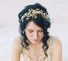£307... Your will be queen of the forest and of all things beautiful wearing this season's Wood Nymph crown.  -Scrolling delicate leaves highlighted