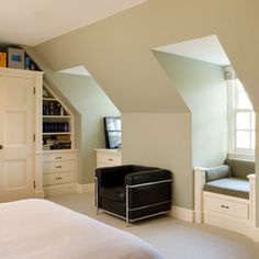 Bedroom Dormer Windows Design Ideas, Pictures, Remodel, and Decor