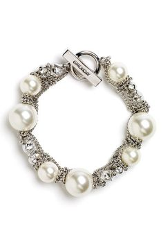 Givenchy 'Vanguard' Small Faux Pearl Bracelet available at #Nordstrom
