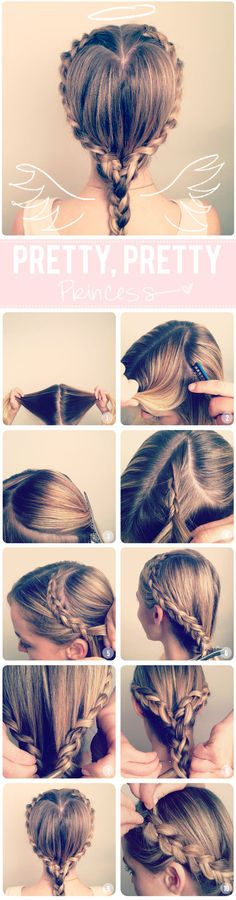 Heart Shaped Crown Braid Hair Tutorial