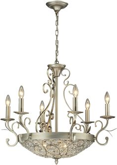 Elk Lighting Andalusia Collection light chandelier in Aged Silver Black Iron Chandelier, Empire Chandelier, Silver Chandelier, Rectangle Chandelier, 3 Light Chandelier, Globe Chandelier, Linear Chandelier, Chandelier Shades, Chandeliers