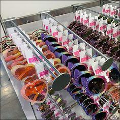 Retail Fixtures, Store Fixtures, Novelty Sunglasses, Bar Stock, Perforated Metal, Metal Baskets, Eyewear, Shapes, Flat