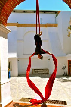 "A woman in La Paz, Mexico practices ""air dancing"""