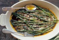 Baked Asparagus with Parmesan and Balsamic Vinegar