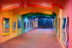 Colourful Subway Mirrors