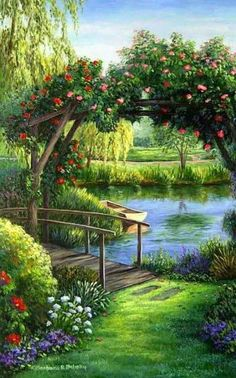 images of beautiful scenery of nature Beautiful Landscapes, Beautiful Gardens, Beautiful Paintings Of Nature, Beautiful Landscape Photography, Colorful Paintings, Landscape Art, Landscape Paintings, Oil Paintings, Impressionist Paintings