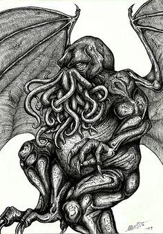 The great Cthulhu by Barguest.deviantart.com on @deviantART