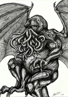 The great Cthulhu by Barguest.deviantart.com on @deviantART