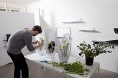 "Courtesy of www.ymeretmalta.com Preparation of ""IkebanaMedulla Vase"" for Ymer&Malta by Benjamin Griandorge."