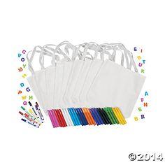 DIY White Canvas Tote Bag Kit