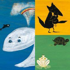 Éric Battut ha scritto alcuni deliziosi libri cartonati, degli autentici piccoli capolavori per la fascia 18-36 mesi, che hanno per protagonisti tanti buffi cuccioli.