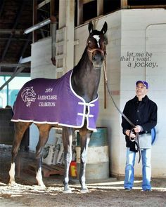 Zenyatta And her jockey Mike Smith. Now retired, Zenyatta is an American champion Thoroughbred. She stood 17.2 hands and weighed in at 1, 217 lbs.