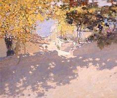 Bato Dugarzhapov oil landscape with a great use of dappled light and loose brushstrokes. Abstract Landscape, Landscape Paintings, Art Cube, Great Paintings, Oil Paintings, Russian Art, Russian Painting, Light Painting, Figure Painting