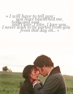 Pride & Prejudice (2005) it's not the original, but the chemistry is amazing.