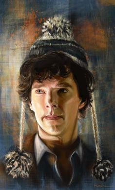 "raiecha: "" Raiecha's Sherlock Fan-Art Masterpost! (Not in order of completion) French Waiter Sherlock, Valentines Sherlock, Bobble-Hat Sherlock. Sherlock Holmes Bbc, Sherlock Fandom, Sherlock Cumberbatch, Sherlock Quotes, Sherlock Fan Art, Sherlock Drawing, Jim Moriarty, Sherlock John, Benedict Sherlock"