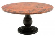 Copper Pedestal Table Old World Table