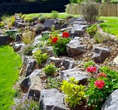 Garden Cottage, Landscaping With Rocks, Terrace Garden, Garden Inspiration, Stepping Stones, Lawn, Planters, Herbs, Backyard