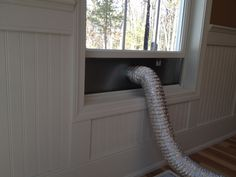 The window dryer vent by Vent Works is perfect for venting dryers, spray booths, laser engraving machines, and virtually anything else with a 4 inch exhaust. Window Inserts, Open Window, Dryer Exhaust Vent, Window Vents, Galvanized Steel, Laser Engraving, Home Projects, Windows, Ramen