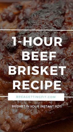 One-Hour Smoky Beef Brisket in your Instant Pot