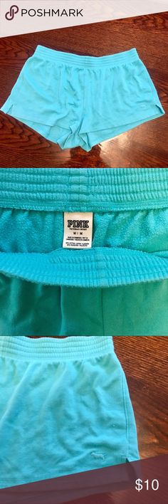 VS Pink Teal Lounge Sweater Shorts Victoria's Secret Pink Lounge Shorts Sweater Shorts PINK Victoria's Secret Shorts