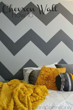 Chevron Wall How to! Check out these step by step instructions on how to make your own Chevron Wall! http://cookandcraftmecrazy.blogspot.com/2013/10/chevron-wall-how-to.html