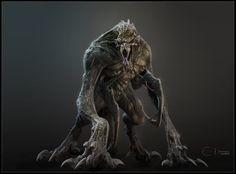 Monster concept, Ben Erdt on ArtStation at https://www.artstation.com/artwork/xBbY