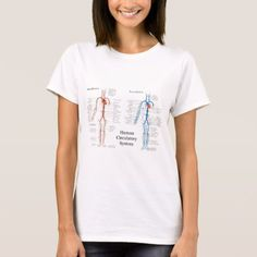 Human Circulatory System of Arteries and Veins T-Shirt - click/tap to personalize and buy