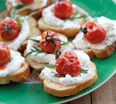 Crostini with Feta and Slow-Roasted Tomatoes