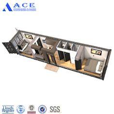 Small Tiny House, Tiny House Cabin, Tiny House Design, Small House Plans, House Floor Plans, Tiny Container House, Shipping Container Cabin, 20ft Container, Casas Containers
