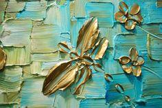 ORIGINAL Resumen libélula libélula arte pintura por ModernHouseArt