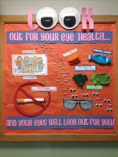 Eye Health bulletin board for May