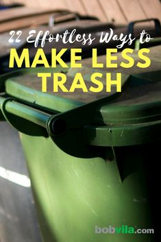 Being a little more environmentally friendly doesn't have to be hard. Check out these easy and simple ways to make less trash. Conservation, Eco Friendly Cleaning Products, Eco Friendly House, Go Green, Green Life, Sustainable Living, Zero Waste, Sustainability, Easy