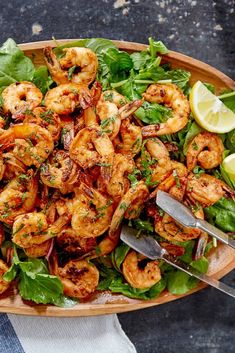 NYT Cooking: This light, summery Minimalist recipe for shrimp salad, from 1998, still carries a lot of heft. Lightly sweet shrimp is enhanced by cayenne, paprika, garlic and a bit of lemon juice. A bed of arugula and mint adds freshness to cut through the heat. If it's too hot out to turn on the broiler, try this recipe on the grill.