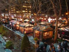What to Do During the Holidays in NYC 2015 (City Guide Magazine)• Bryant Park's Winter Village kicks the holiday shopping season early, opening its doors this year Oct. 30-Jan. 3, 2016.