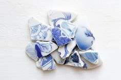 Japanese Leaf Sea Pottery Pieces,Coastal Home Decor,Ceramic Craft Supply,Vintage Beach Decor,Beach House Decoration,Beach Finds, Mosaic by ReverseGem on Etsy